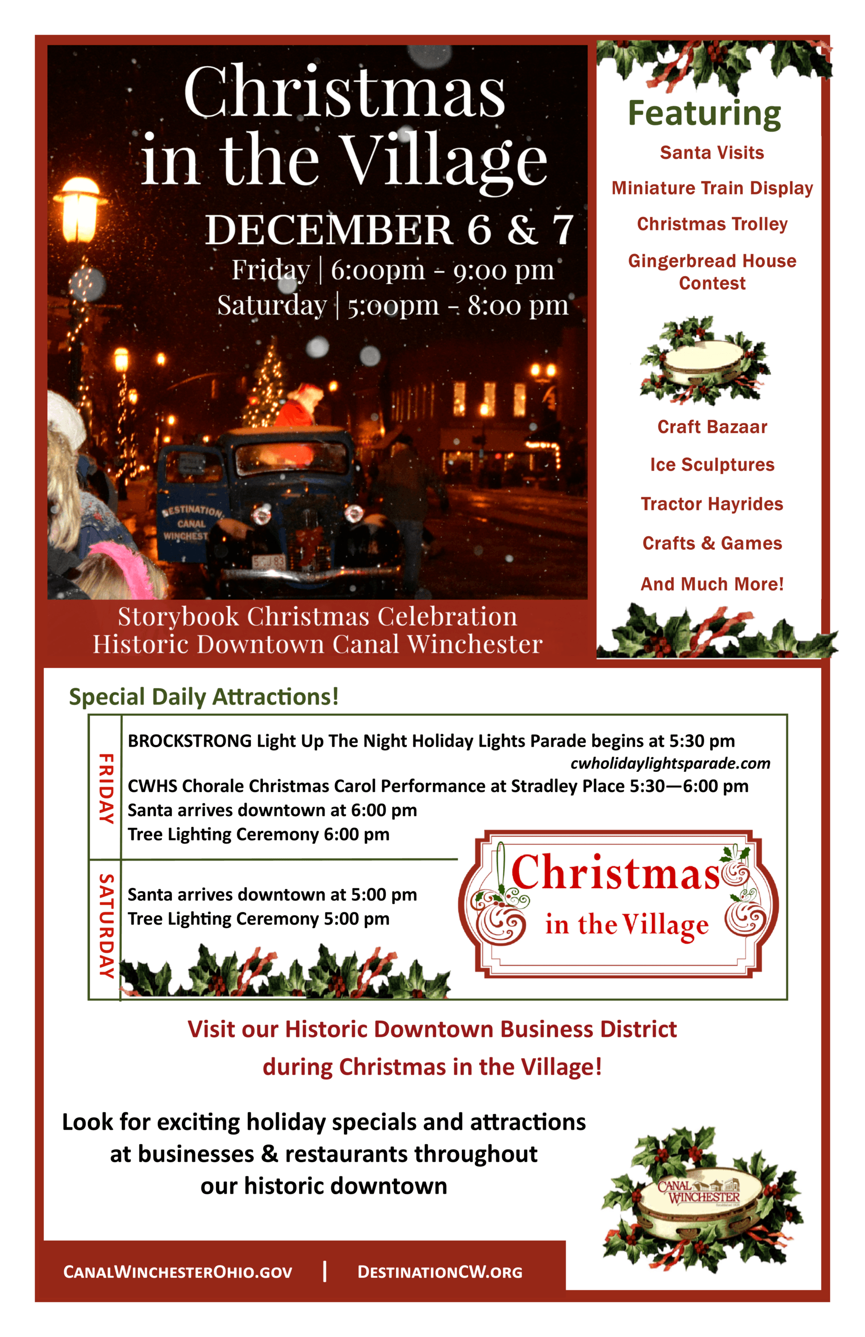 Christmas in the Village Flyer image Opens in new window