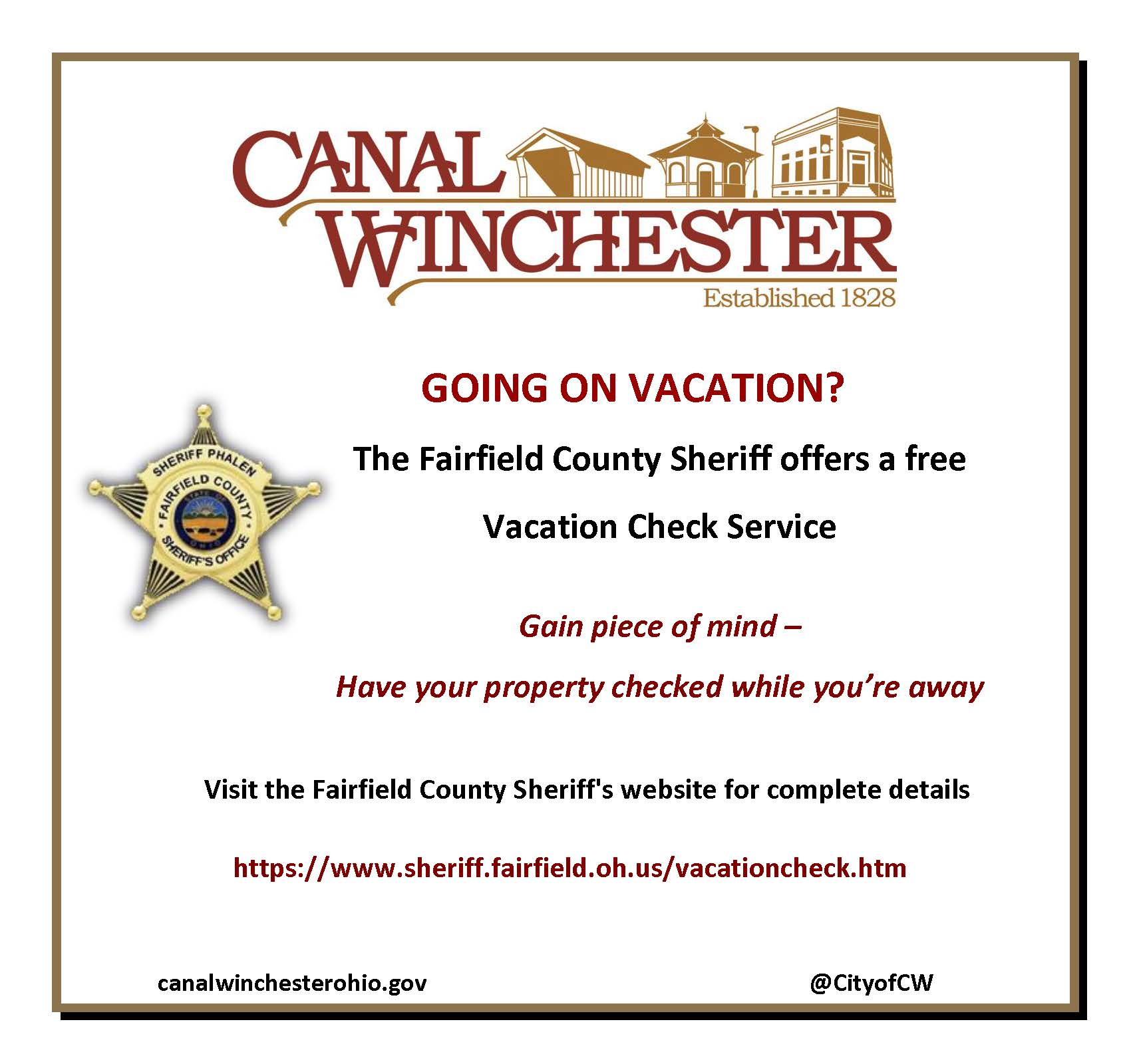 Vacation Check Service Flyer